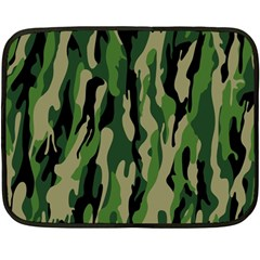 Green Military Vector Pattern Texture Fleece Blanket (mini) by BangZart