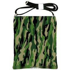 Green Military Vector Pattern Texture Shoulder Sling Bags by BangZart