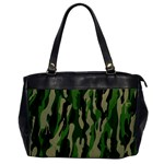 Green Military Vector Pattern Texture Office Handbags Front