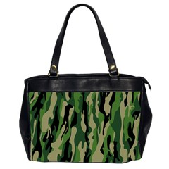 Green Military Vector Pattern Texture Office Handbags (2 Sides)  by BangZart