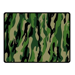 Green Military Vector Pattern Texture Fleece Blanket (small) by BangZart