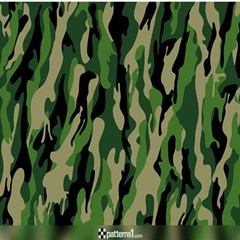 Green Military Vector Pattern Texture Magic Photo Cubes