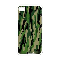 Green Military Vector Pattern Texture Apple Iphone 4 Case (white)