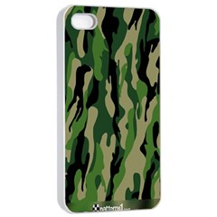 Green Military Vector Pattern Texture Apple Iphone 4/4s Seamless Case (white) by BangZart