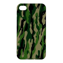 Green Military Vector Pattern Texture Apple Iphone 4/4s Hardshell Case by BangZart