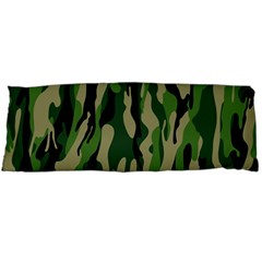 Green Military Vector Pattern Texture Body Pillow Case (dakimakura)