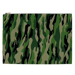 Green Military Vector Pattern Texture Cosmetic Bag (xxl)  by BangZart
