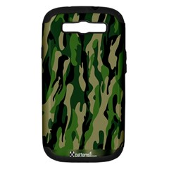 Green Military Vector Pattern Texture Samsung Galaxy S Iii Hardshell Case (pc+silicone)