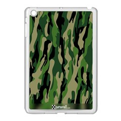 Green Military Vector Pattern Texture Apple iPad Mini Case (White) by BangZart
