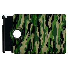 Green Military Vector Pattern Texture Apple Ipad 3/4 Flip 360 Case by BangZart