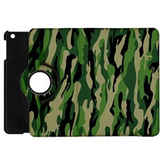 Green Military Vector Pattern Texture Apple Ipad Mini Flip 360 Case by BangZart