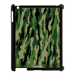 Green Military Vector Pattern Texture Apple Ipad 3/4 Case (black)