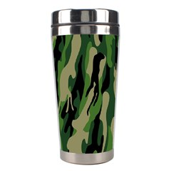 Green Military Vector Pattern Texture Stainless Steel Travel Tumblers by BangZart