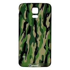 Green Military Vector Pattern Texture Samsung Galaxy S5 Back Case (white)