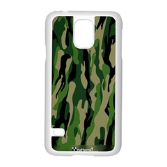 Green Military Vector Pattern Texture Samsung Galaxy S5 Case (white) by BangZart