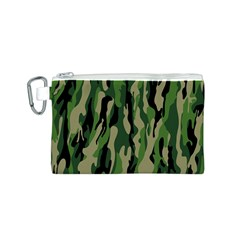 Green Military Vector Pattern Texture Canvas Cosmetic Bag (s) by BangZart