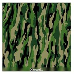 Green Military Vector Pattern Texture Large Satin Scarf (square)