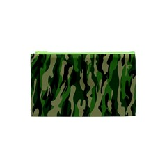 Green Military Vector Pattern Texture Cosmetic Bag (xs) by BangZart