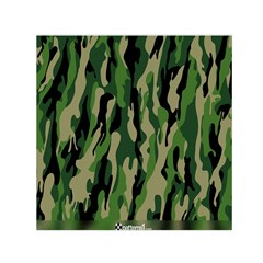 Green Military Vector Pattern Texture Small Satin Scarf (square) by BangZart