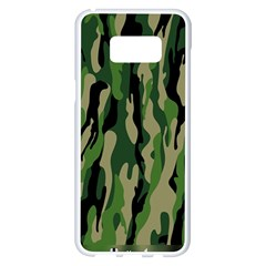 Green Military Vector Pattern Texture Samsung Galaxy S8 Plus White Seamless Case by BangZart