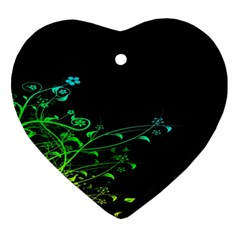 Abstract Colorful Plants Ornament (heart) by BangZart