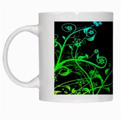 Abstract Colorful Plants White Mugs by BangZart