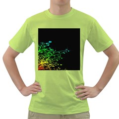 Abstract Colorful Plants Green T Shirt