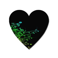 Abstract Colorful Plants Heart Magnet by BangZart