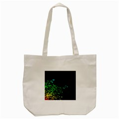 Abstract Colorful Plants Tote Bag (cream) by BangZart
