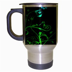 Abstract Colorful Plants Travel Mug (silver Gray) by BangZart