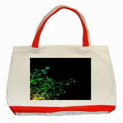 Abstract Colorful Plants Classic Tote Bag (red) by BangZart