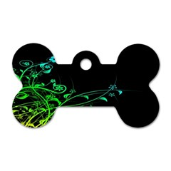 Abstract Colorful Plants Dog Tag Bone (two Sides) by BangZart