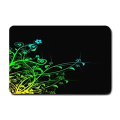 Abstract Colorful Plants Small Doormat