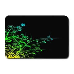 Abstract Colorful Plants Plate Mats by BangZart