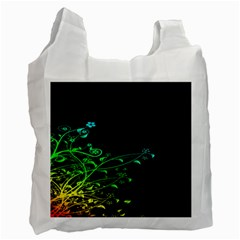 Abstract Colorful Plants Recycle Bag (two Side)