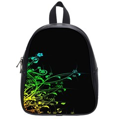 Abstract Colorful Plants School Bags (small)  by BangZart