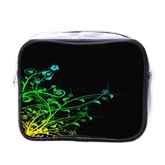 Abstract Colorful Plants Mini Toiletries Bags by BangZart