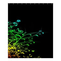Abstract Colorful Plants Shower Curtain 60  X 72  (medium)  by BangZart