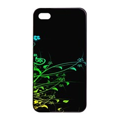 Abstract Colorful Plants Apple Iphone 4/4s Seamless Case (black)