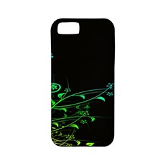 Abstract Colorful Plants Apple Iphone 5 Classic Hardshell Case (pc+silicone)