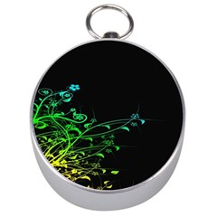 Abstract Colorful Plants Silver Compasses by BangZart