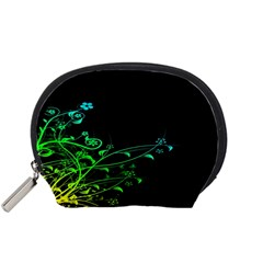Abstract Colorful Plants Accessory Pouches (small)