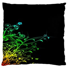 Abstract Colorful Plants Large Flano Cushion Case (one Side) by BangZart