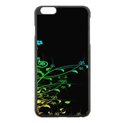Abstract Colorful Plants Apple Iphone 6 Plus/6s Plus Black Enamel Case by BangZart