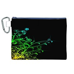 Abstract Colorful Plants Canvas Cosmetic Bag (xl) by BangZart