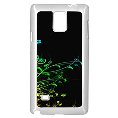 Abstract Colorful Plants Samsung Galaxy Note 4 Case (white) by BangZart