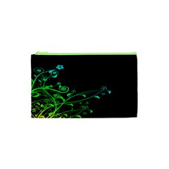 Abstract Colorful Plants Cosmetic Bag (xs)