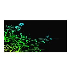 Abstract Colorful Plants Satin Wrap