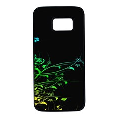 Abstract Colorful Plants Samsung Galaxy S7 Black Seamless Case