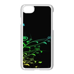Abstract Colorful Plants Apple Iphone 7 Seamless Case (white) by BangZart